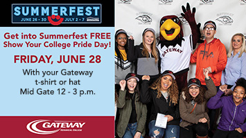Show Your College Pride at Summerfest