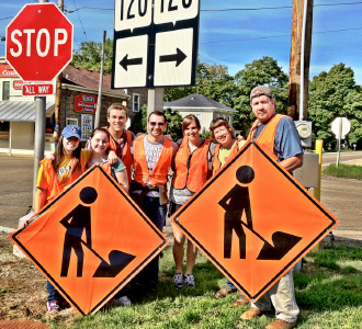 Student Nurses' Association Roadside Clean Up in Elkhorn