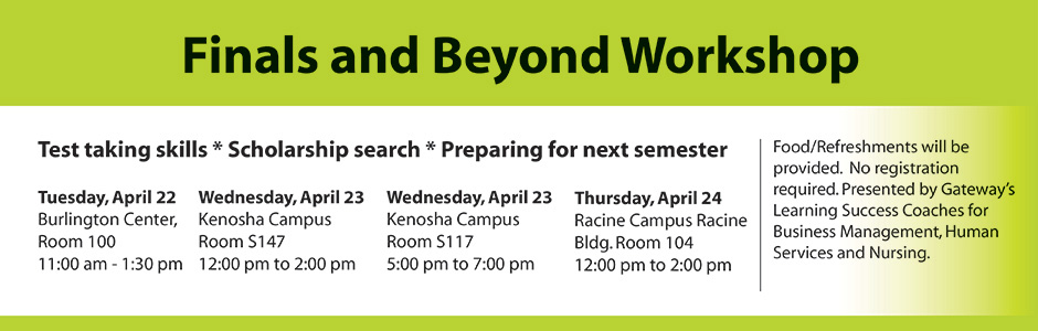 Finals and Beyond Workshop