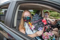 Crystal Shaw at Drive-through Graduation