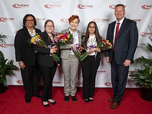 left to right - Zina Hayward, Crystal Shaw, Megan Bahr, Berenice Lorenzo, Bryan Albrecht