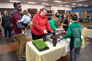 Planting activity at Earth Day