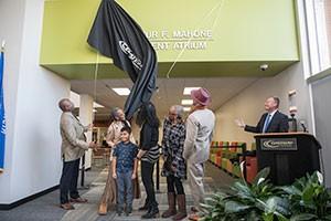 Arthur F. Mahone Atrium dedication ceremony