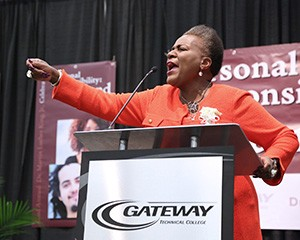 Gateway's 22nd Annual Dr. Martin Luther King Jr. celebration keynote speaker Thelma Sias.