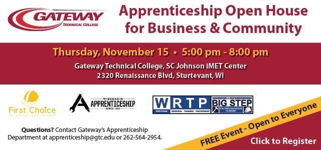 National Apprenticeship Week Open House. Register.