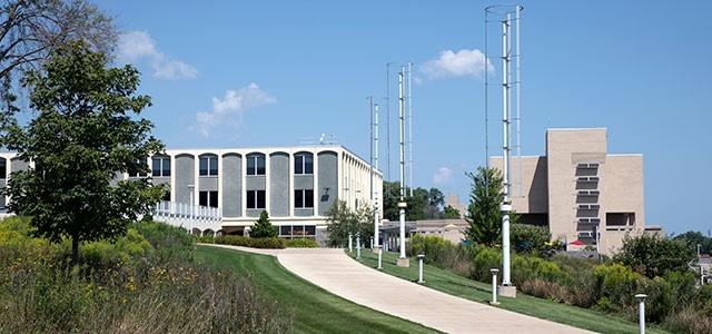 Wind turbines on the Racine Campus