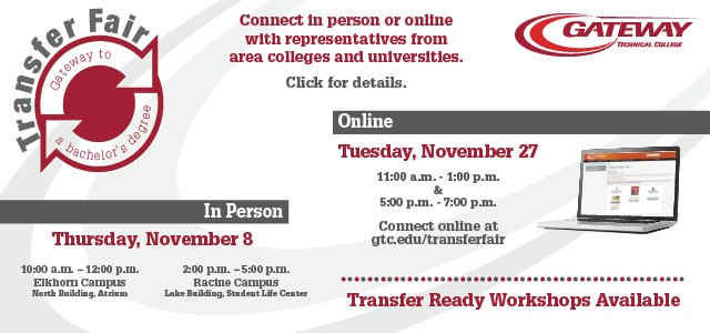 Transfer Fair. Learn more.