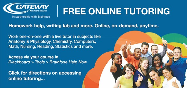 BrainFuse free online tutoring through Blackboard